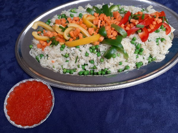 Riz cantone vegetariste (geklopte eieren met rijst + verse groenten )