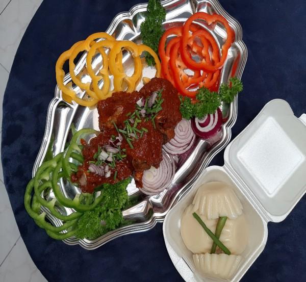 Nugbagba met ablo en groenten